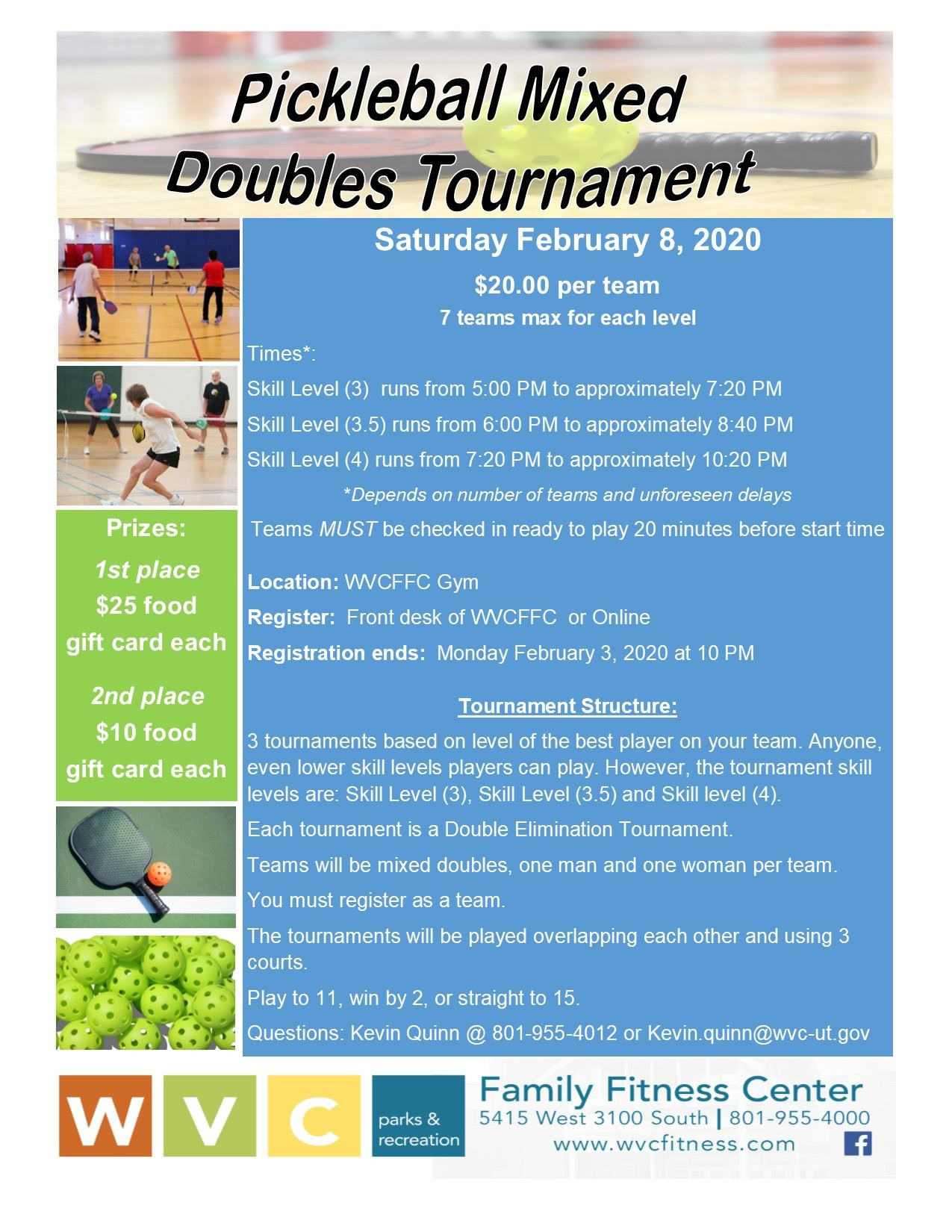 Flyer Mixed Doubles Tournament 2020